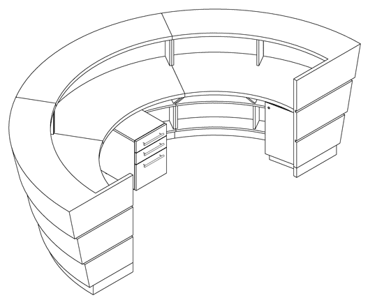 Reception Desk Detail Cad Drawing 3d Cad Drawing of Reception